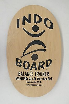 Indo Board Natural Wood Indoor Balance Trainer Board NO ROLLER Fast Shipping