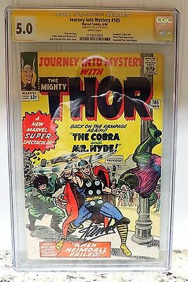 Journey Into Mystery THOR #105 Signed by STAN LEE, CGC 5.0 Grade