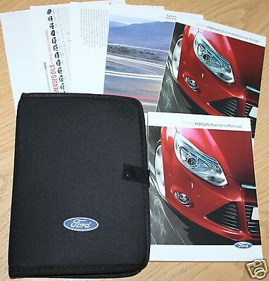 Ford Focus Handbook Owners Manual 2011-2014 + Service Book Wallet