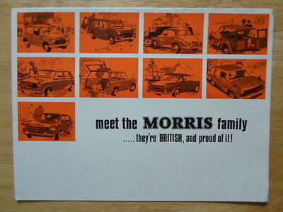MORRIS RANGE orig 1966 UK Mkt Sale Brochure - Mini Cooper Minor 1000 1800 Oxford