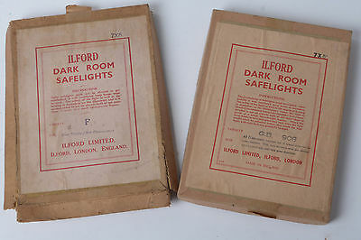 2 Vintage Ilford 7 x 5 Safelight filters - as picture with original box 908 & F