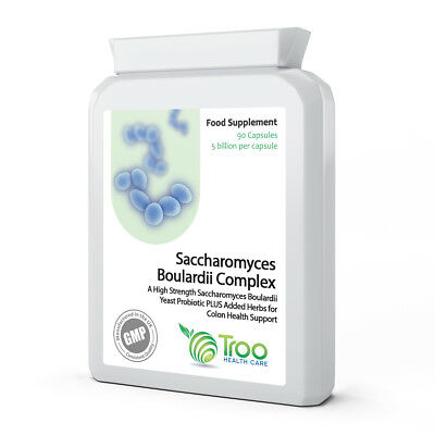 Saccharomyces Boulardi 90 Capsules with Olive Leaf Extract, Biotin & Vitamin D