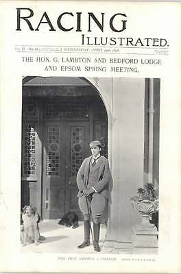 1896 Horse Race George Lambton Bedford Lodge Standing Pose With Dogs
