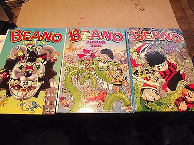 3 X D.c. Thompson -The Beano Annuals 2003 & 2004 & 2006  In  Good Condition