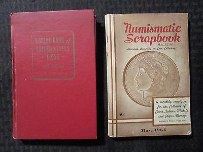 1962 Guide Book of United States Coins & 1964 Numismatic Scrapbook Magazine VG-