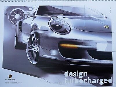 "Porsche 2007 Design Calendar, ""Design Turbo Charged"" plus CD, No; 563/5000"