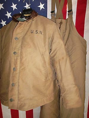 WWII U.S. Navy N-1 Deck Jacket and Pants-Size 40