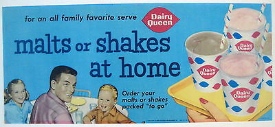 Dairy Queen 1960 colorful transparency from Menu board MALTS OR SHAKES AT HOME