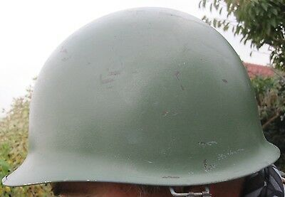 Us M1 Style Steel Army Helmet With Liner And Straps