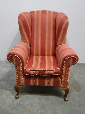 Vintage Wing Back Armchair - Re-upholstery Project (0528M)