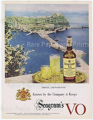 Seagrams VO Canadian Whisky Admired The World Over Vintage Original Print Ad