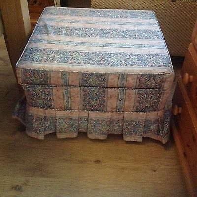 Vintage Foot Rest Come Storage Box On Wheels