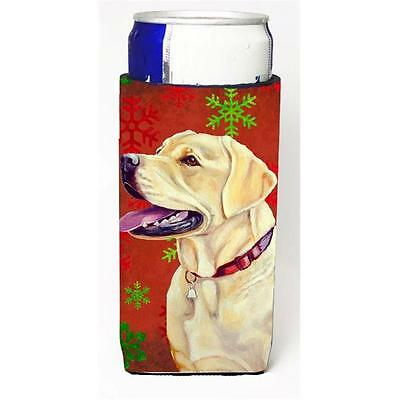 Labrador Red and Green Snowflakes Holiday Christmas Michelob Ultra s for slim...