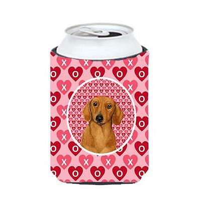Dachshund Valentines Love And Hearts Can Or Bottle Hugger 12 oz.