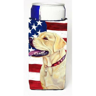 USA American Flag with Labrador Michelob Ultra bottle sleeves for slim cans 1...