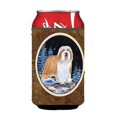 Starry Night Bearded Collie Can or bottle sleeve Hugger 12 oz.