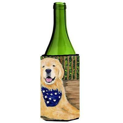 Carolines Treasures Golden Retriever Wine bottle sleeve Hugger 24 oz.