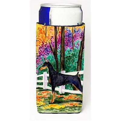 Carolines Treasures Doberman Michelob Ultra bottle sleeves for slim cans 12 oz.