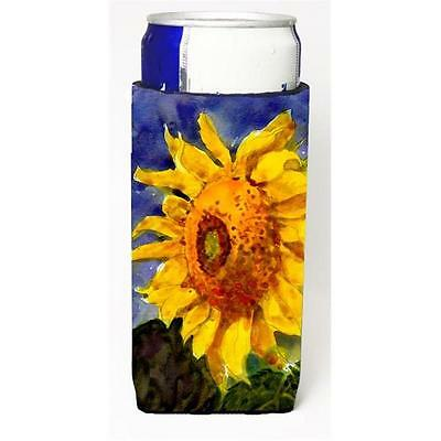 Carolines Treasures Flower Sunflower Michelob Ultra bottle sleeve for Slim Can