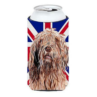 Otterhound With English Union Jack British Flag Tall Boy bottle sleeve Hugger...