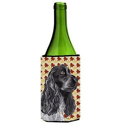 Carolines Treasures Cocker Spaniel Fall Leaves Wine bottle sleeve Hugger