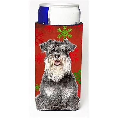 Red Snowflakes Holiday Christmas Schnauzer Michelob Ultra bottle sleeves for ...