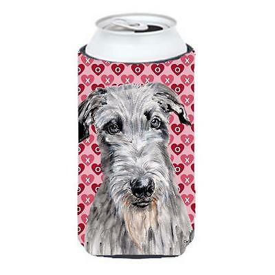 Scottish Deerhound Hearts And Love Tall Boy bottle sleeve Hugger 22 To 24 Oz.