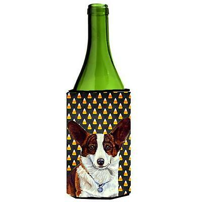 Corgi Candy Corn Halloween Portrait Wine bottle sleeve Hugger 24 oz.