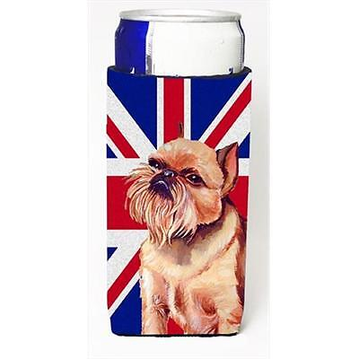 Brussels Griffon With English Union Jack British Flag Michelob Ultra bottle s...