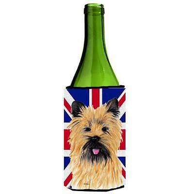 Cairn Terrier With English Union Jack British Flag Wine bottle sleeve Hugger ...