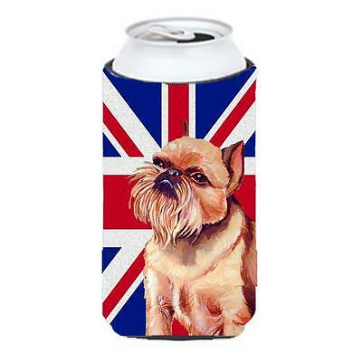 Brussels Griffon With English Union Jack British Flag Tall Boy bottle sleeve ...