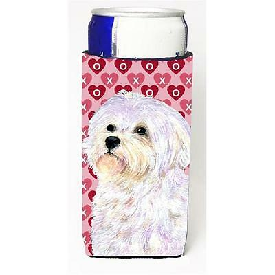 Maltese Hearts Love And Valentines Day Portrait Michelob Ultra bottle sleeves...