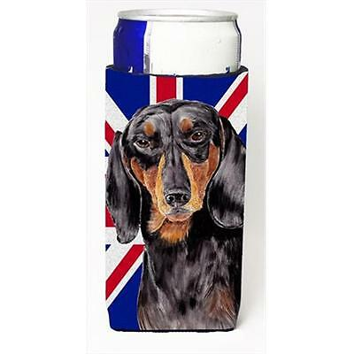 Dachshund With English Union Jack British Flag Michelob Ultra bottle sleeves ...