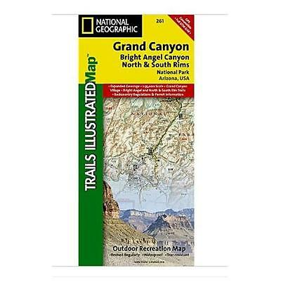 National Geographic Maps Grand Canyon Bright Angel Canyon/North and South Rims