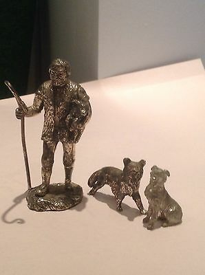 Lead Shepherd And Dogs