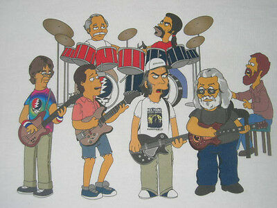 Neil Young and the Grateful Dead as SIMPSONS T-shirt Jerry Garcia Lesh Weir