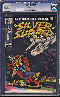 Silver Surfer #4 CGC 6.0 OW Pages Thor and Loki Appearance