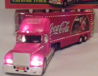 Coca Cola - Coke -  Father Christmas Santa Lorry - LIGHT UP TRUCK - LARGE SIZE