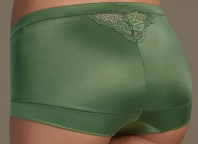 Ladies Soft Shiny Knickers Shorts Added Stretch High Rise Size 12 BNWT M&S