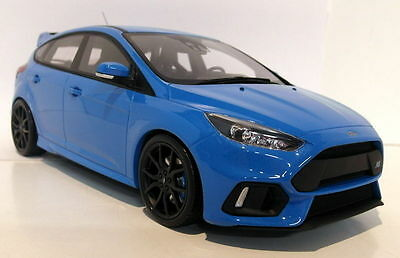 Otto 1/18 Scale Ford Focus RS 2016 Nitrous blue Resin cast Model Car
