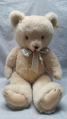 """Vintage Teddy Bear designed by Character large 24"""" tall jointed white bear"""