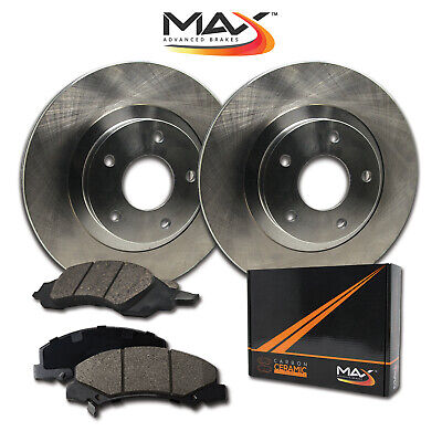 2008 Fits Nissan Versa w/o ABS OE Blank Rotor Max Pads Front