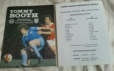 Tommy Booth Testimonial Brochure and Testionial Match Teamsheet