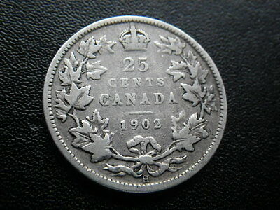 Canada 1902 25 Cents (aFine)