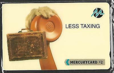 Mer214 Less Taxing Mint Sealed Mercury Phonecard