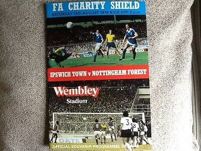 Ipswich Town v Nottingham Forest Charity Shield programme 1978
