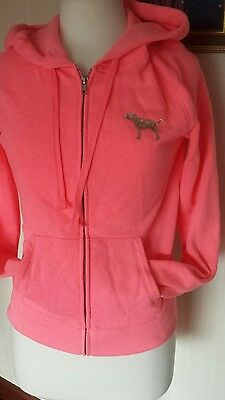 bright pink hoodie size xs by 'pink ' and leggings