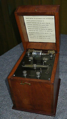 C.1920s WOODEN CASED CRYSTAL RADIO/RECEIVER~ENCLOSED CATS WHISKER/CRYSTAL