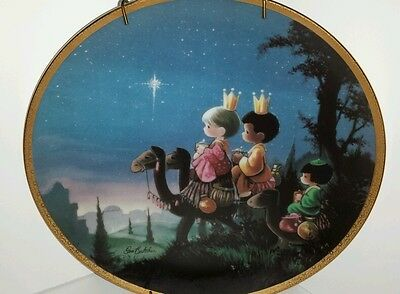 Precious Moments They Followed the Star Hamilton Collection Plate #4195F 1991