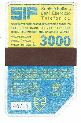 Italy - Old SIP 3.000 L Phonecard - used
